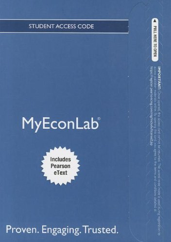 9780132892469: NEW MyEconLab with Pearson eText -- Access Card -- for Essential Foundations of Economics (MyEconLab (Access Codes))