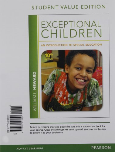 Exceptional Children: An Introduction to Special Education,: Heward, William L.