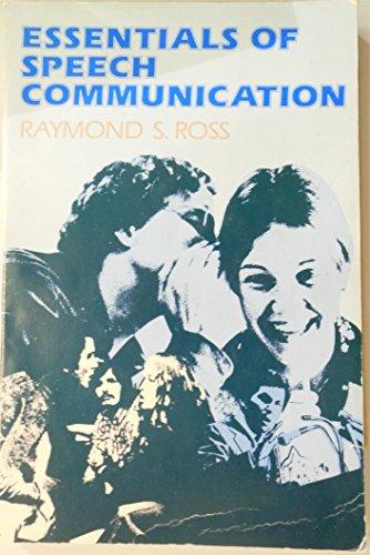 9780132893145: Essentials of speech communication (The Prentice-Hall series in speech communication)
