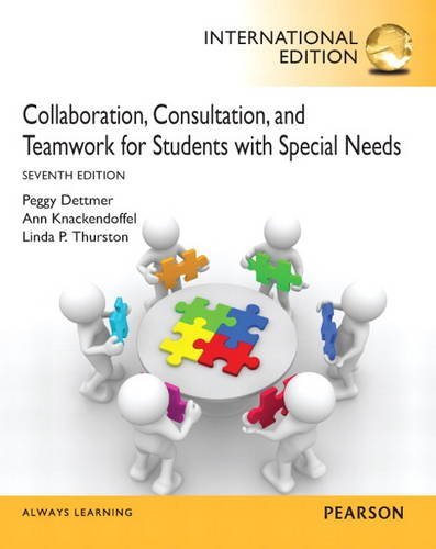 9780132896573: Collaboration, Consultation, and Teamwork for Students with Special Needs: International Edition