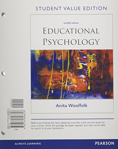 9780132896818: Educational Psychology, Student Value Edition (12th Edition)