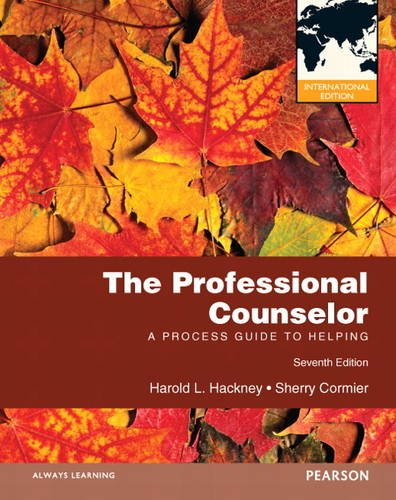 9780132899314: The Professional Counselor: A Process Guide to Helping