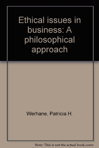 9780132901482: Ethical issues in business: A philosophical approach