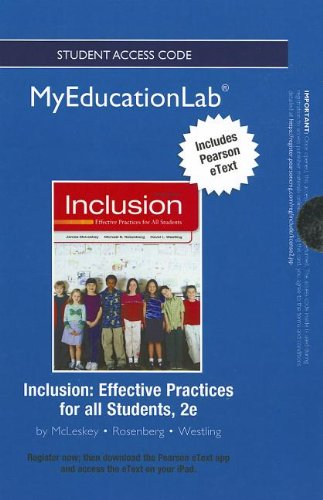 9780132902052: NEW MyEducationLab with Pearson eText -- Standalone Access Card -- for Inclusion: Effective Practices for all Students (myeducationlab (Access Codes))