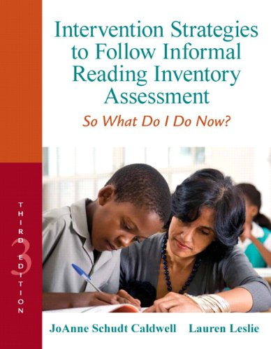 9780132907088: Intervention Strategies to Follow Informal Reading Inventory Assessment: So What Do I Do Now? (3rd Edition) (Response to Intervention)