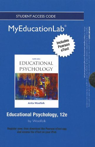 9780132909280: NEW MyEducationLab with Pearson eText -- Standalone Access Card -- for Educational Psychology (myedu