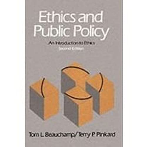 9780132909570: Ethics and Public Policy: Introduction to Ethics (2nd Edition)