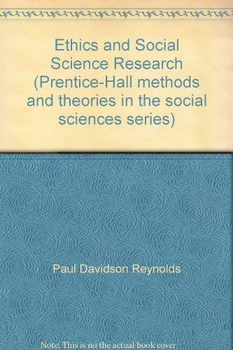 9780132909655: Ethics and Social Science Research (Prentice-Hall Methods and Theories in the Social Sciences Series)