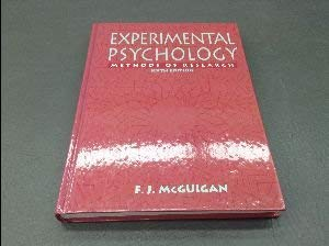 9780132910149: Experimental Psychology: Methods of Research
