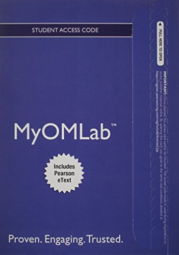 9780132912280: NEW MyOMLab with Pearson eText -- Access Card -- for Operations Management (MyOMlab (Access Codes))