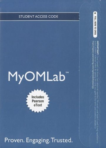 9780132912303: NEW MyOMLab with Pearson eText -- Access Card -- for Principles of Operations Management (MyOMlab (Access Codes))