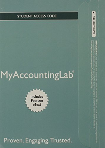9780132912327: NEW MyAccountingLab with Pearson eText -- Access Card -- for Accounting (MyAccountingLab (Access Codes))