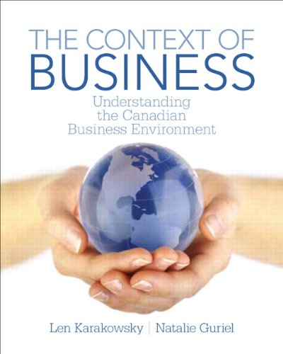 9780132913003: Understanding the Canadian Business Environment