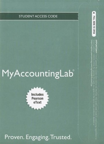 9780132913737: NEW MyAccountingLab with Pearson eText -- Access Card -- for Financial & Managerial Accouting (MyAccountingLab (Access Codes))