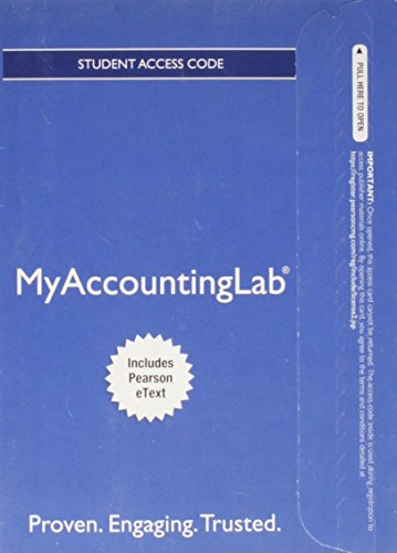 9780132913768: NEW MyAccountingLab with Pearson eText -- Access Card -- for Financial & Managerial Accounting, Ch 1-15 (Financial Chapters) (MyAccountingLab (Access Codes))