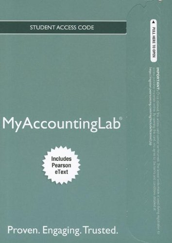 9780132914093: NEW MyAccountingLab with Pearson eText -- Access Card -- for PH's Fed Taxation 2013 Comprehensive