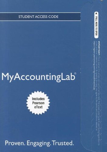 9780132914451: NEW MyAccountingLab with Pearson eText -- Access Card -- for Cost Accounting (MyAccountingLab (Access Codes))