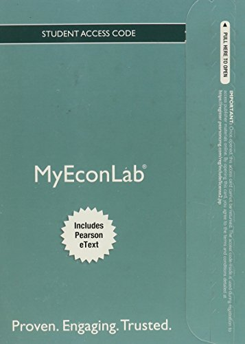9780132914734: NEW MyEconLab with Pearson eText -- Access Card -- for Principles of Economics (MyEconLab (Access Codes))