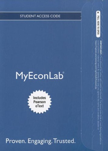 9780132914789: NEW MyEconLab with Pearson eText -- Access Card -- for Principles of Microeconomics (MyEconLab (Access Codes))