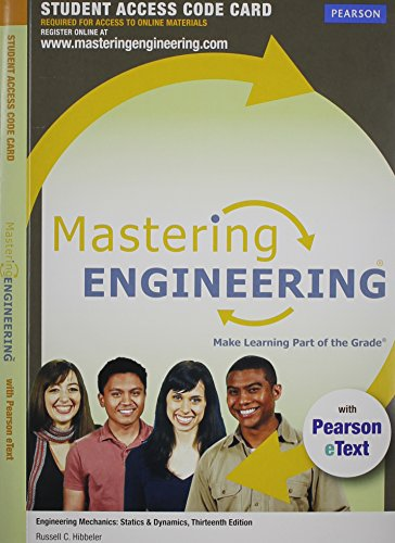 9780132915724: MasteringEngineering with Pearson eText -- Acess Card -- for Engineering Mechanics: Statics & Dynamics