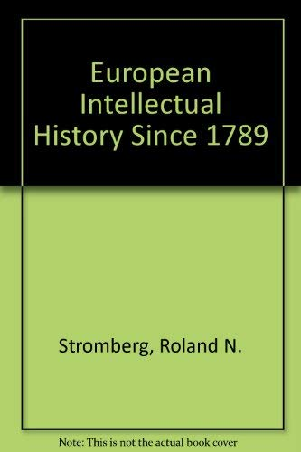 9780132920032: European Intellectual History Since 1789