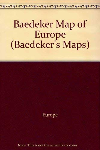 9780132920209: Baedeker Map of Europe (Baedeker's Maps)