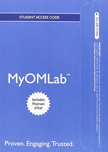 9780132920629: NEW MyOMLab with Pearson eText -- Access Card -- for Operations Management