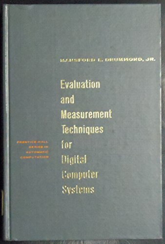 9780132921022: Evaluation and Measurement Techniques for Digital Computer Systems