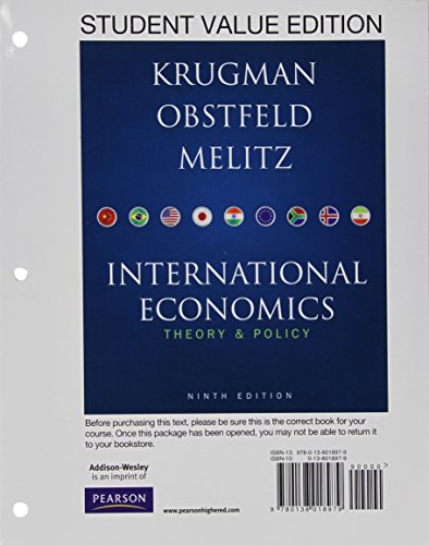 9780132925884: Student Value Edition for International Economics plus NEW MyEconLab with Pearson eText -- Access Card Package (1-semester access) (9th Edition)