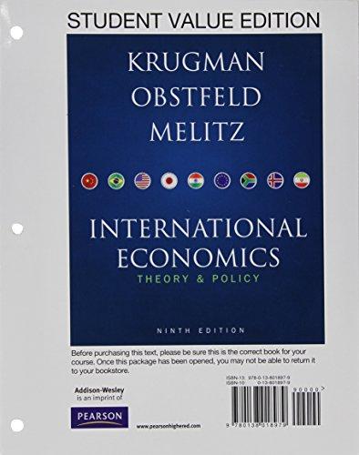 International Economics: Theory & Policy: Krugman, Paul R.;