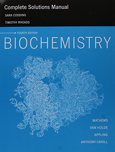 9780132926287: Complete Solutions Manual for Biochemistry