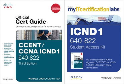 9780132930154: CCENT/CCNA ICND1 MyITCertificationlab 640-822 Official Cert Guide Bundle