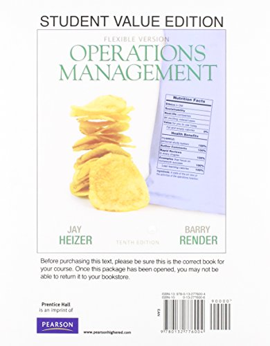 9780132931236: Operations Management, Flexible Version, Student Value Edition Plus NEW MyOMLab with Pearson eText -- Access Card Package (10th Edition)