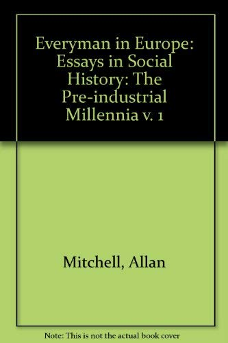 9780132936132: Everyman in Europe: Essays in social history (v. 1)