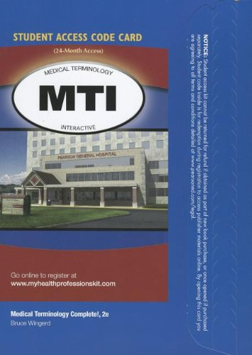 9780132936293: Medical Terminology Interactive -- Access Card -- for Medical Terminology Complete