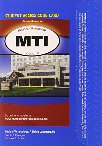 9780132936316: Medical Terminology Interactive -- Access Card -- for Medical Terminology: A Living Language