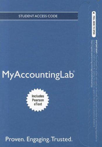 NEW MyAccountingLab with Pearson eText -- Access: Kaplan, Robert S.;