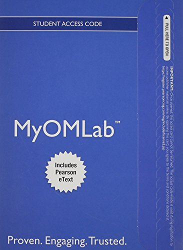9780132940474: NEW MyOMLab with Pearson eText -- Access Card -- for Operations Management: Processes and Supply Chains