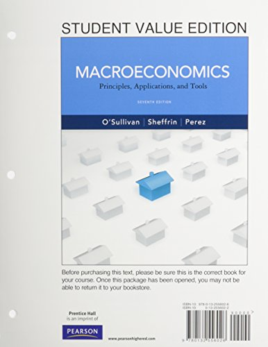 9780132941181: Student Value Edition for Macroeconomics: Principles, Applications and Tools with NEW MyEconLab with Pearson eText -- Access Card Package (7th Edition)