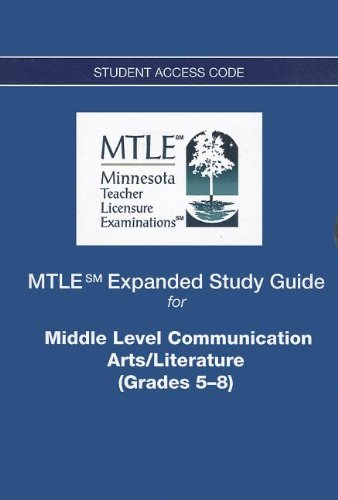 9780132942744: MTLE Expanded Study Guide -- Access Card -- for Middle Level Communication Arts/Literature (Grades 5-8)