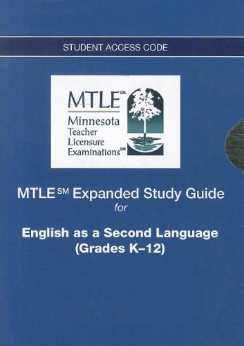 9780132943420: MTLE Expanded Study Guide -- Access Card -- for English as a Second Language (Grades K-12) (MTLE (Access Codes))