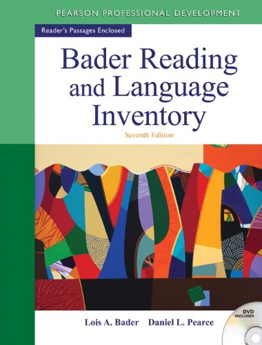 9780132943680: Bader Reading & Language Inventory (7th Edition)