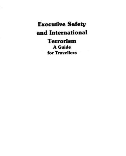 9780132943802: Executive Safety And International Terrorism