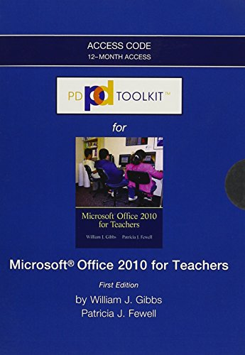9780132945103: PDToolKit -- Access Card -- for Microsoft Office 2010 for Teachers