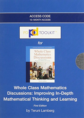 9780132945608: PDToolKit -- Access Card -- for Whole Class Mathematics Discussions: Improving In-Depth Mathematical Thinking and Learning