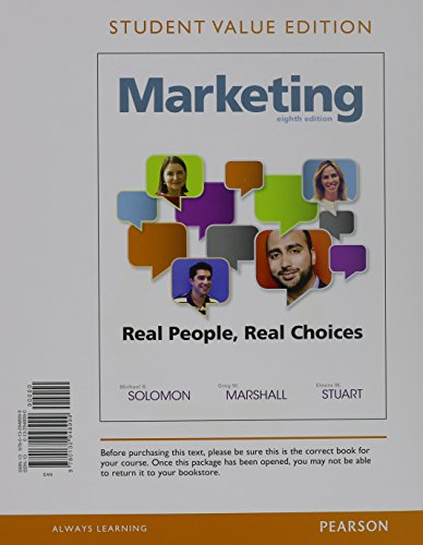 9780132948999: Marketing: Real People, Real Choices, Student Value Edition (8th Edition)
