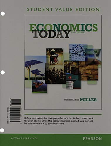 Economics Today, Student Value Edition (17th Edition): Miller, Roger LeRoy