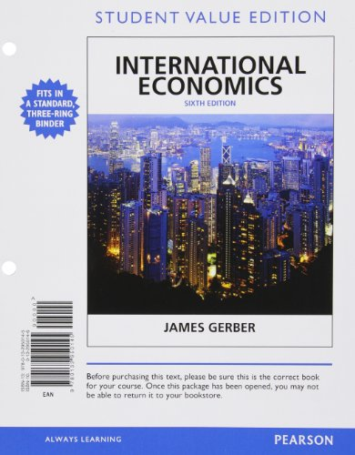 9780132950145: International Economics, Student Value Edition (6th Edition) (The Pearson Series in Economics)