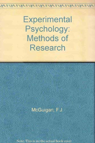 9780132950237: Experimental Psychology: Methods of Research