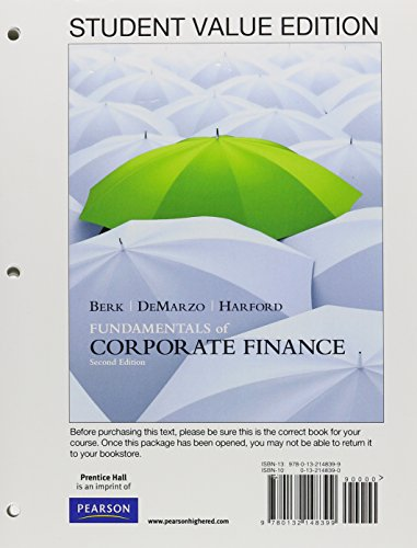 9780132950435: Student Value Edition for Fundamentals of Corporate Finance with Pearson eText plus NEW MyFinanceLab Access Card (1-semester access) (2nd Edition)